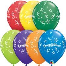 Congratulations Streamers - 11 Inch Balloons 25pcs
